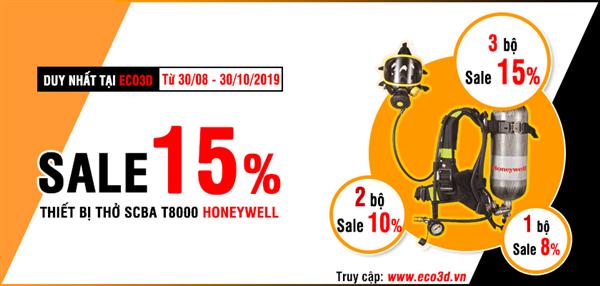 Giảm giá 15% khi mua thiết bị thở SCBA T8000 Honeywell