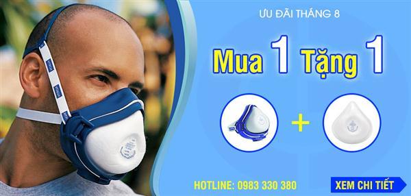 Khuyến mãi Tháng 8: Mua 1 mặt nạ North 4200 tặng 1 tấm lọc 42N95
