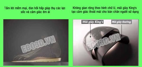 so sánh mũi giày kings và giày thường