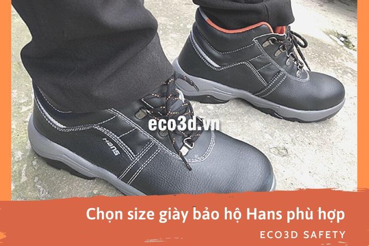 Bảng quy đổi size giày bảo hộ Hans Hàn Quốc