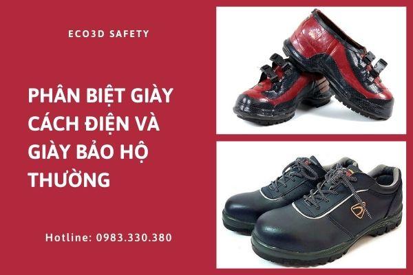 Phân biệt giày cách điện và giày bảo hộ thông thường