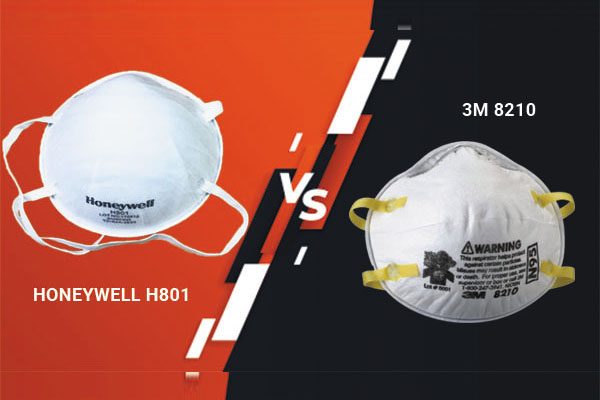 So sánh khẩu trang Honeywell H801 và khẩu trang 3M 8210