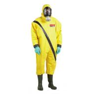 Bộ quần áo tuần tra bảo vệ hóa chất có bình thở
