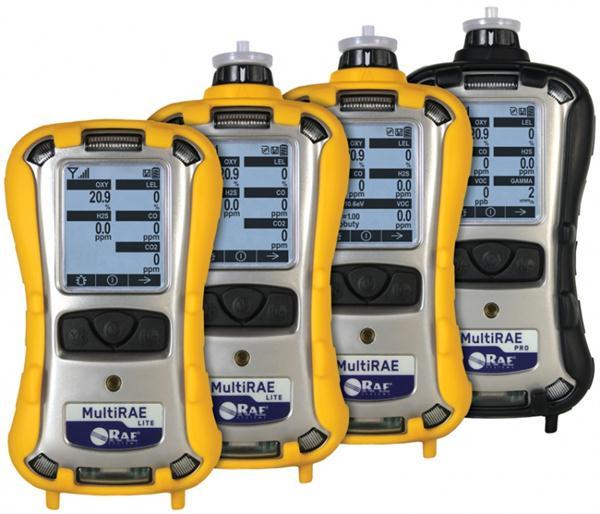 Máy dò đa khí MultiRAE Lite có bơm CO2 (IR)/H2S/CO/NH3/O2