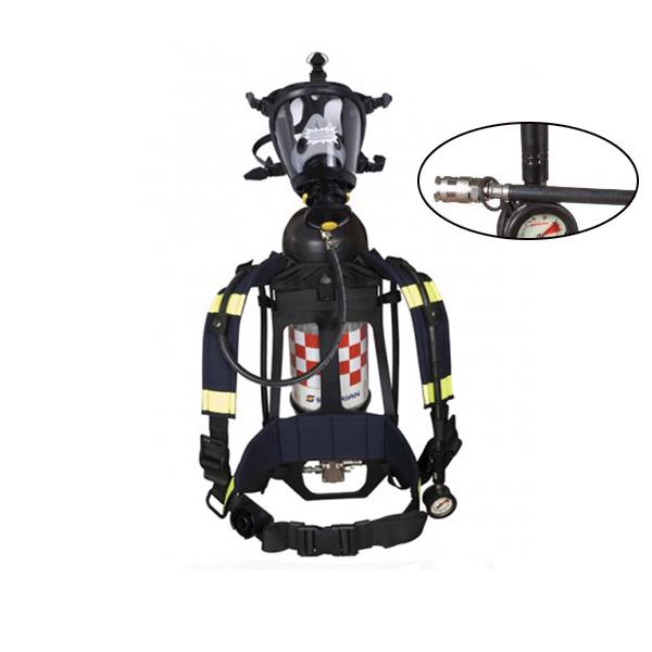 Bộ Thiết Bị Trợ Thở SCBA855T T8000, Mặt Nạ Survivair 20/20, Carbon 6,8L, Dây Kết Nối