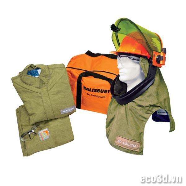 Bộ quần áo chống hồ quang SK40 Size XL với mũ Lift Front Hood