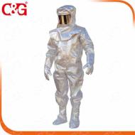 Bộ chịu nhiệt C&G 1200°C 3H (Áo khoác, quần, Găng tay,Xà cạp, Mũ trùm đầu)