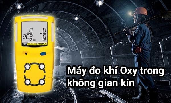 Trang bị máy đo khí Oxy trong không gian kín