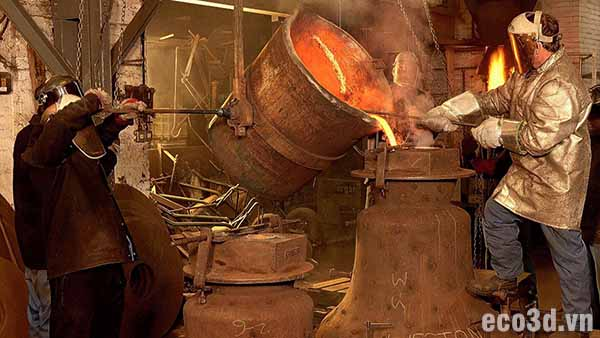 vai trò găng tay chịu nhiệt trong công nghiệp nấu chảy kim loại