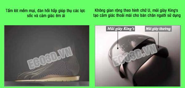 so sánh mũi giày king's và giày thông thường